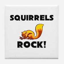 Squirrels Rock! Tile Coaster