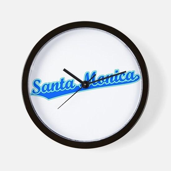 Retro Santa Monica (Blue) Wall Clock