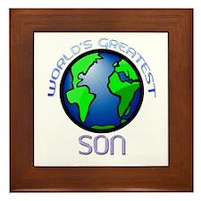 World's Greatest Son Framed Tile