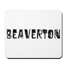 Beaverton Faded (Black) Mousepad