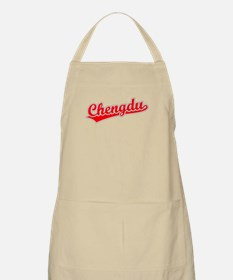 Retro Chengdu (Red) BBQ Apron