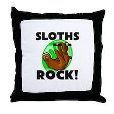 Sloths Rock! Throw Pillow
