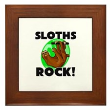 Sloths Rock! Framed Tile