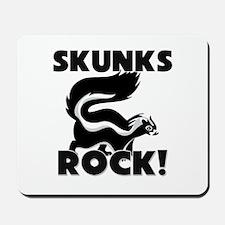 Skunks Rock! Mousepad