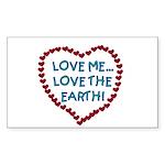 Love Me, Love the Earth Rectangle Sticker 50 pk)