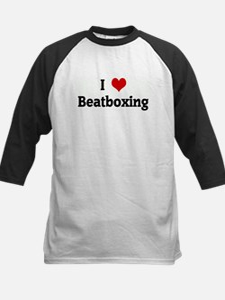I Love Beatboxing Kids Baseball Jersey