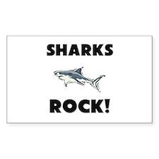 Sharks Rock! Rectangle Decal