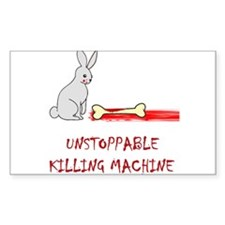 Evil killer bunny Rectangle Decal