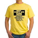 Obama's White Half Yellow T-Shirt