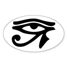 Eye of Horus Oval Bumper Stickers