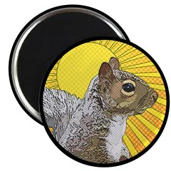 Pop Art Squirrel Magnet