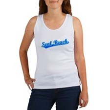 Retro Seal Beach (Blue) Women's Tank Top