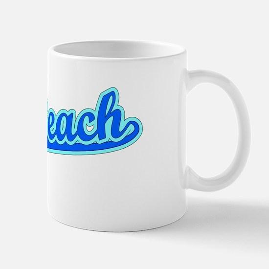 Retro Seal Beach (Blue) Mug