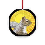 Pop Art Squirrel Ornament (Round)