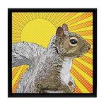 Pop Art Squirrel Tile Coaster