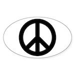 Peace / CND Oval Sticker (50 pk)
