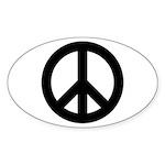 Peace / CND Oval Sticker (10 pk)