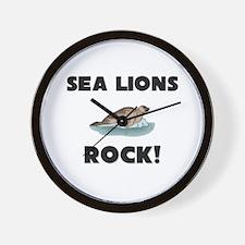 Sea Lions Rock! Wall Clock