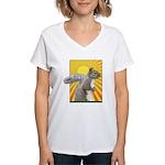 Pop Art Squirrel Women's V-Neck T-Shirt