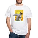 Pop Art Squirrel White T-Shirt