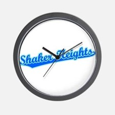 Retro Shaker Heights (Blue) Wall Clock