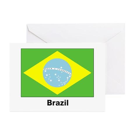 Brazil Brazilian Flag Greeting Cards (Pk of 10