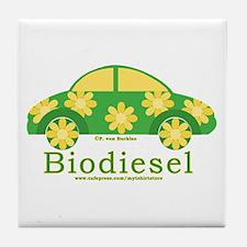 Cute Biodiesel Car Tile Coaster
