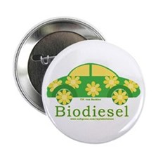 "Cute Biodiesel Car 2.25"" Button"