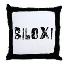 Biloxi Faded (Black) Throw Pillow