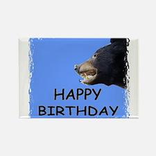 HAPPY BIRTHDAY BEAR Rectangle Magnet
