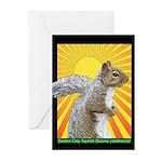 Pop Art Squirrel Greeting Cards (Pk of 10)