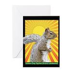 Pop Art Squirrel Greeting Card