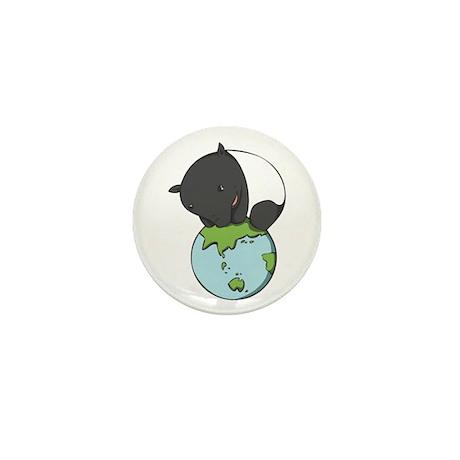 Mini Button: 'Tapir on World'