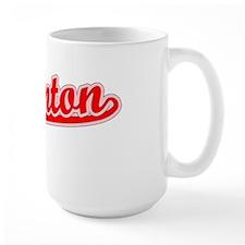 Retro Edmonton (Red) Ceramic Mugs