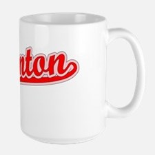 Retro Edmonton (Red) Ceramic Mugs