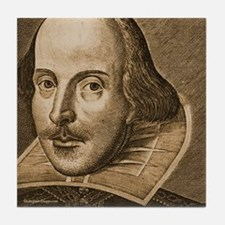Droeshout's Shakespeare Tile Coaster