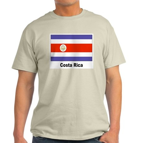 Costa Rica Flag Ash Grey T-Shirt