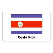 Costa Rica Flag Rectangle Decal