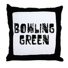 Bowling Green Faded (Black) Throw Pillow