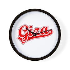Retro Giza (Red) Wall Clock