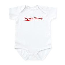 Vintage Laguna Beach (Red) Infant Bodysuit