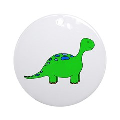 DINOSAUR Design Email to Pers Ornament (Round)