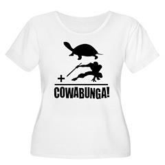 Cowabunga Women's Plus Size Scoop Neck T-Shirt
