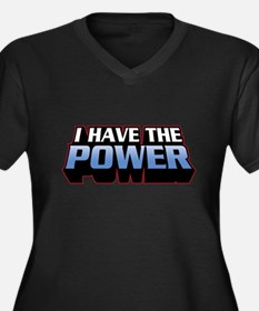 I Have The Power Women's Plus Size V-Neck Dark T-S