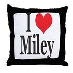 I Love Miley Throw Pillow