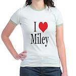 I Love Miley Jr. Ringer T-Shirt