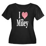 I Love Miley Women's Plus Size Scoop Neck Dark T-S