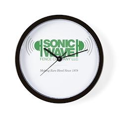 Sonic Wave Fence Company Wall Clock