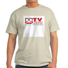 TV Geek Ash Grey T-Shirt