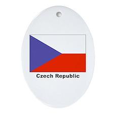 Czech Republic Flag Keepsake (Oval)
